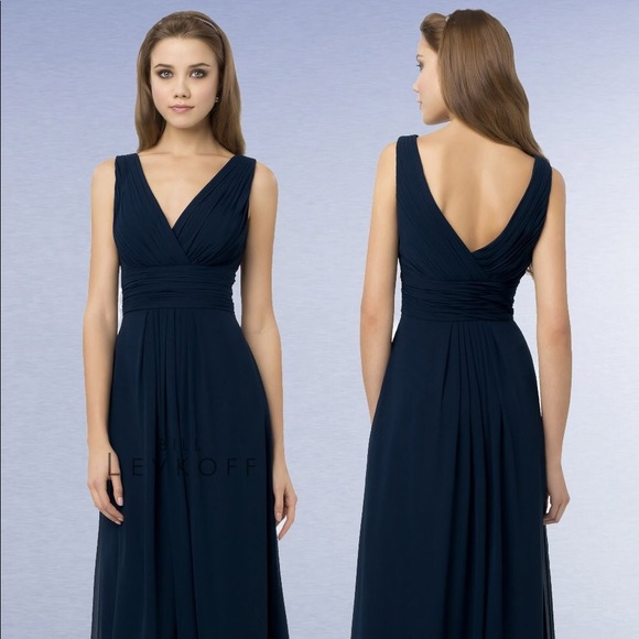 b8991233c57 Bill Levkoff Dresses   Skirts - Bill Levkoff Navy Bridesmaid Dress - Style  768